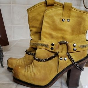 Mustard color boots